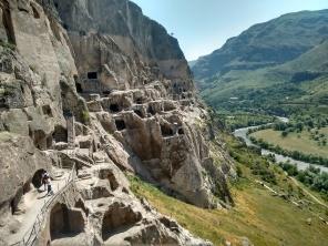 The cave monastery site in Vardzia.